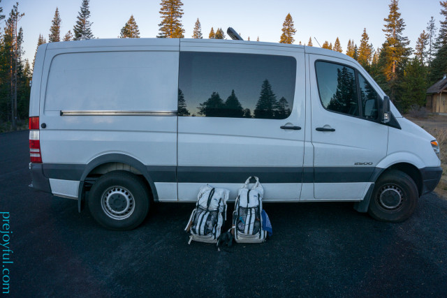 White packs, white van.