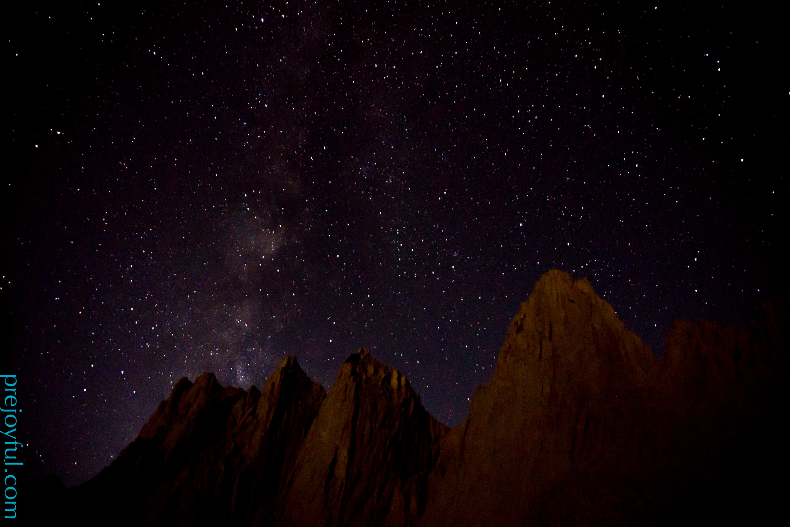 Night sky above Mt. Whitney.