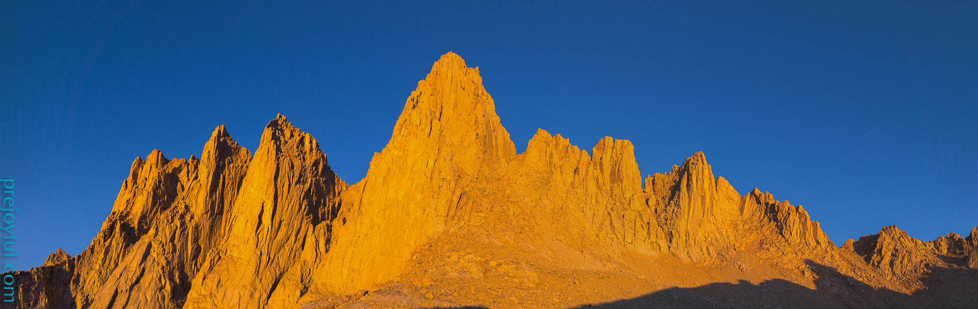 Mt. Whitney Massif in first light.