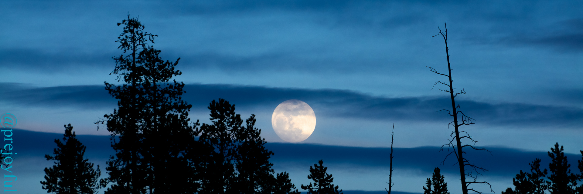 Moonrise over West Yellowstone.