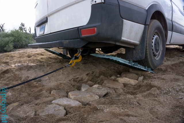 Sandtracks and winch cable.