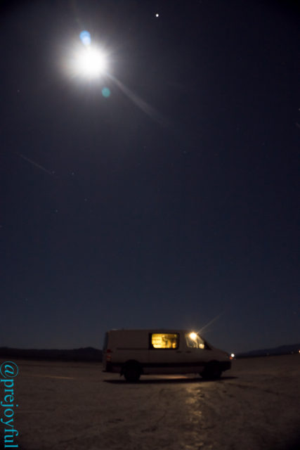 Camped on a dry lake bed!
